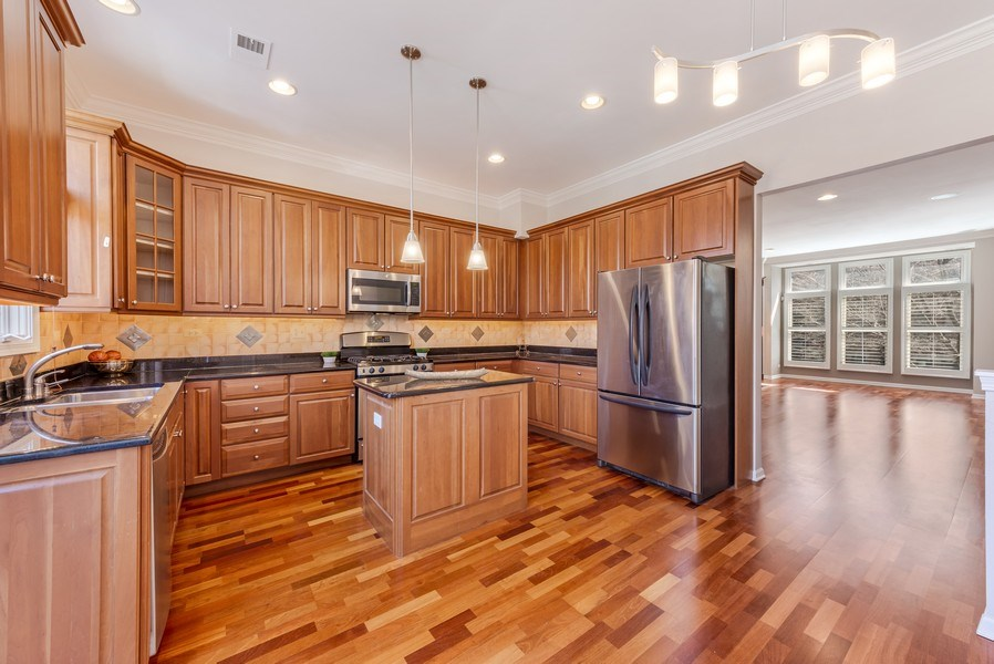 Real Estate Photography - 124 N. Rose Street, Palatine, IL, 60067 - Kitchen / Living Room