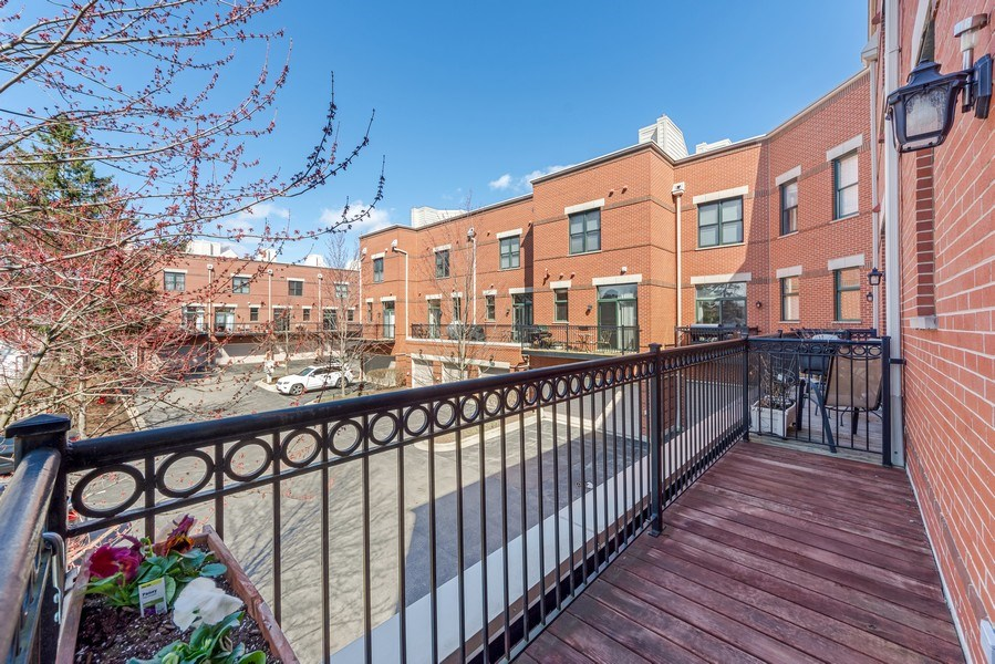 Real Estate Photography - 124 N. Rose Street, Palatine, IL, 60067 - Balcony