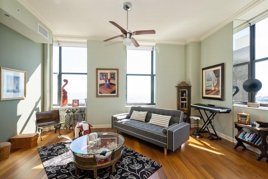 Real Estate Photography - 310 S. Michigan Avenue, Unit 2005, Chicago, IL, 60604 - Living Room