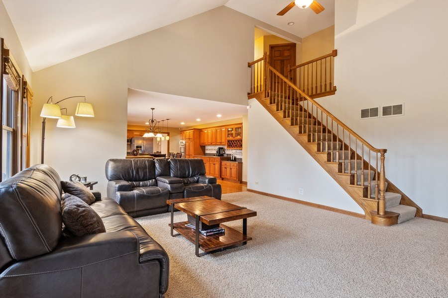 Real Estate Photography - 10803 Royal Porthcawl Drive, Naperville, IL, 60564 - Family Room / Kitchen