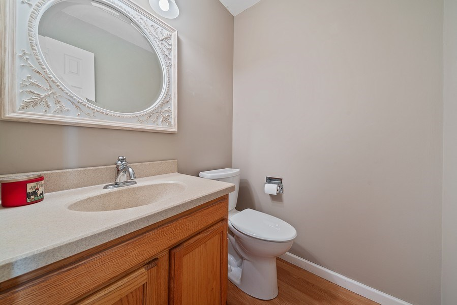 Real Estate Photography - 237 S. Park Place Drive, Bartlett, IL, 60103 - Powder Room