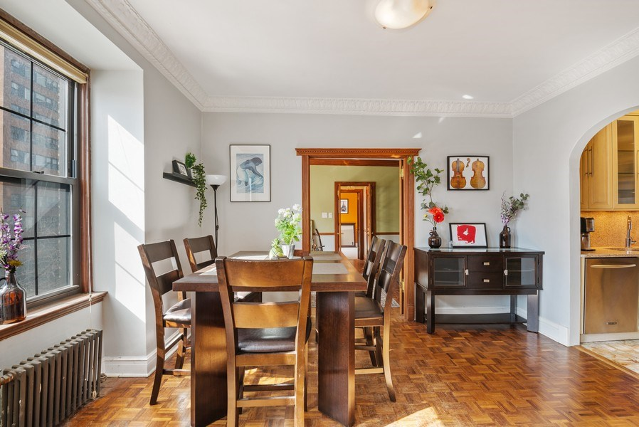 Real Estate Photography - 6101 N. Sheridan Road, Unit 3B-3C, Chicago, IL, 60660 - Dining Room