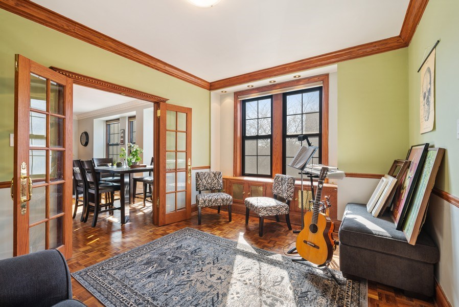 Real Estate Photography - 6101 N. Sheridan Road, Unit 3B-3C, Chicago, IL, 60660 - Den