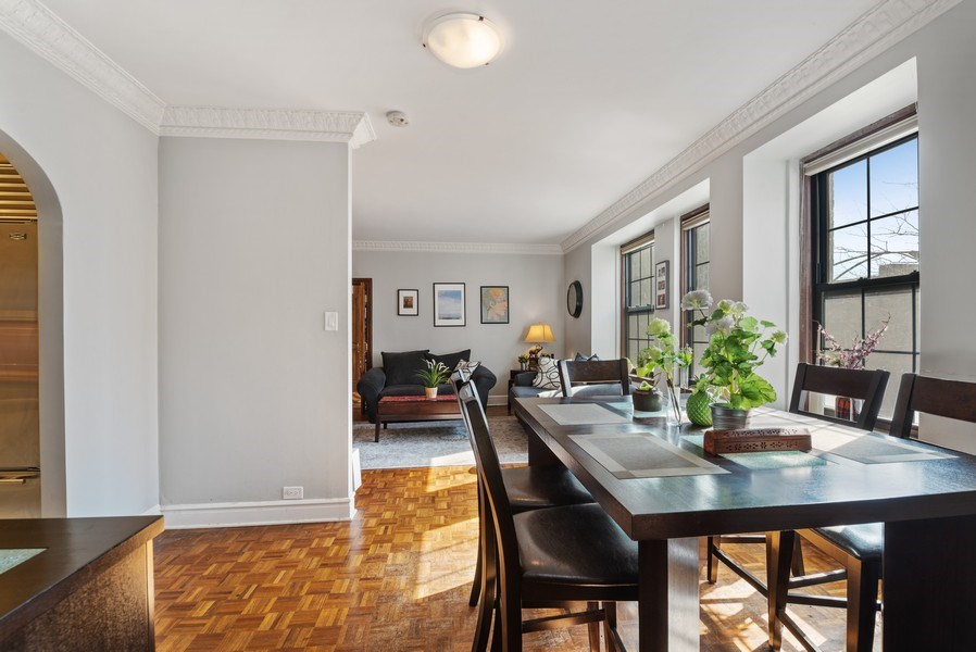 Real Estate Photography - 6101 N. Sheridan Road, Unit 3B-3C, Chicago, IL, 60660 - Living Room / Dining Room