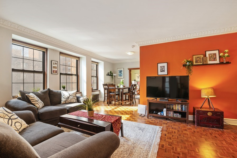 Real Estate Photography - 6101 N. Sheridan Road, Unit 3B-3C, Chicago, IL, 60660 - Living Room/Dining Room