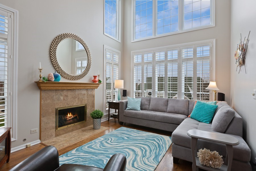 Real Estate Photography - 433 Edgewater Lane, Wauconda, IL, 60084 - Living Room