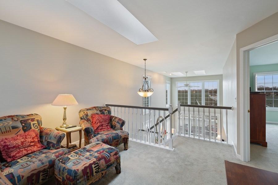 Real Estate Photography - 433 Edgewater Lane, Wauconda, IL, 60084 - Loft overlooking Liv Rm