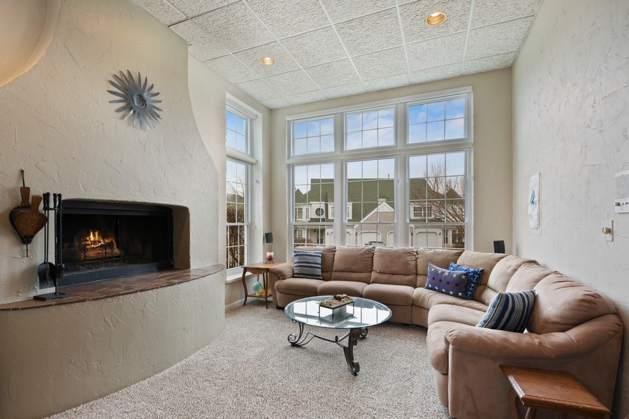 Real Estate Photography - 433 Edgewater Lane, Wauconda, IL, 60084 - Family Room