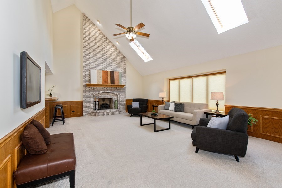 Real Estate Photography - 10513 Royal Porthcawl Drive, Naperville, IL, 60564 - Family Room