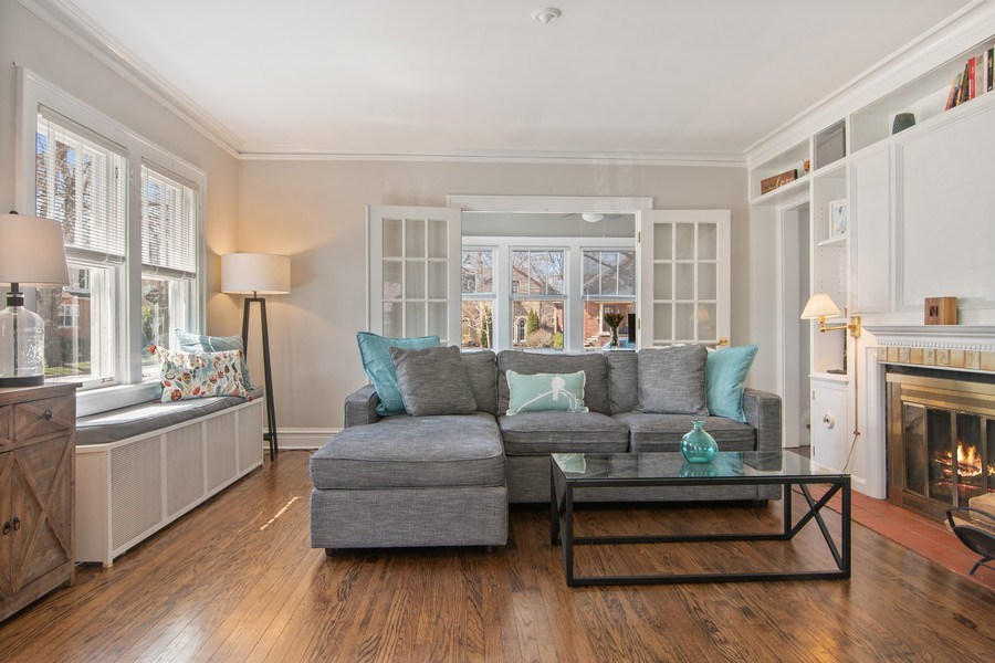 Real Estate Photography - 2139 Forestview Road, Evanston, IL, 60201 - Living Room