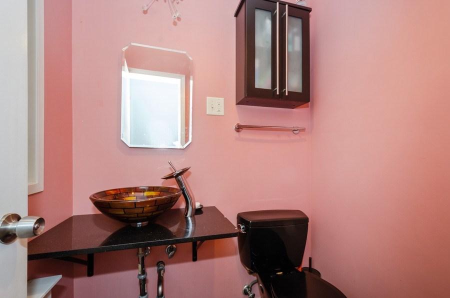 Real Estate Photography - 2637 W. Fitch Avenue, Unit 3E, Chicago, IL, 60645 - Powder Room