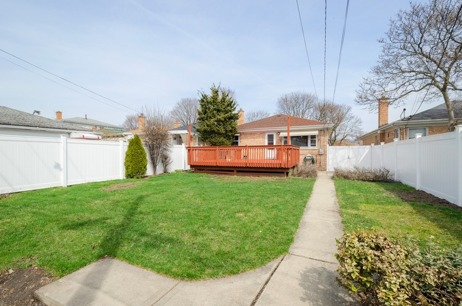 Real Estate Photography - 7438 N. ORIOLE Avenue, Chicago, IL, 60631 - Back Yard