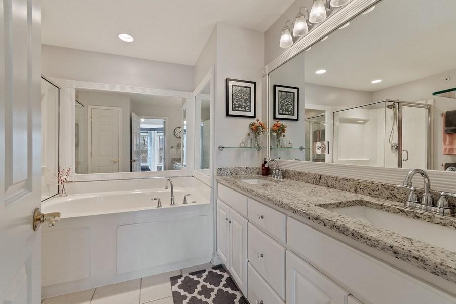Real Estate Photography - 705 Prescott Court, Naperville, IL, 60563 - Master Bathroom
