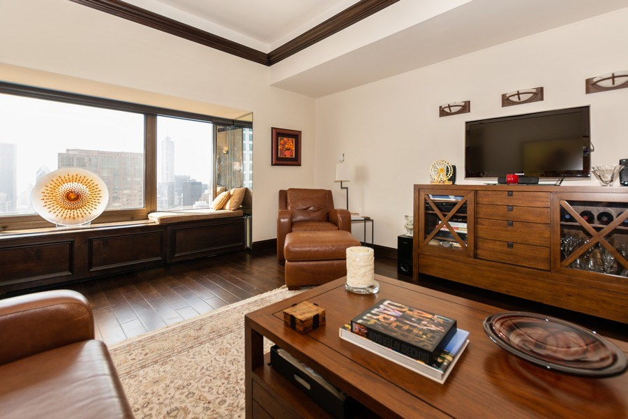 Real Estate Photography - 175 E. DELAWARE Place, Unit 4503, Chicago, IL, 60611 - Living Room