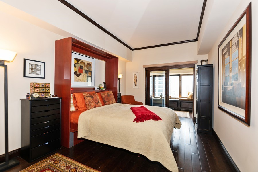 Real Estate Photography - 175 E. DELAWARE Place, Unit 4503, Chicago, IL, 60611 - Master Bedroom