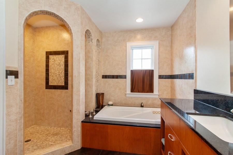 Real Estate Photography - 344 S. Edgewood Avenue, La Grange, IL, 60525 - Master Bathroom
