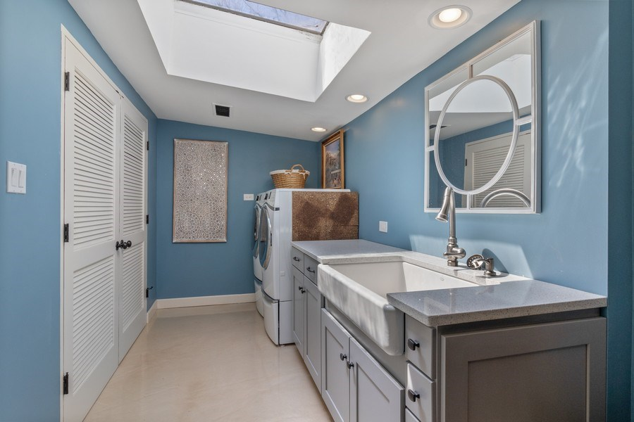 Real Estate Photography - 1911 Hanover Lane, Flossmoor, IL, 60422 - Laundry Room