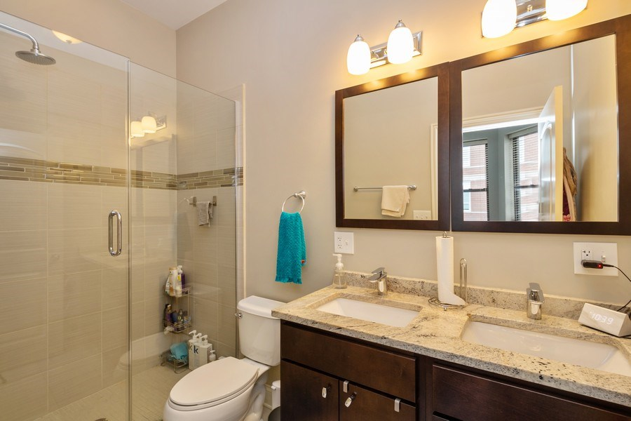 Real Estate Photography - 1312 N. Claremont Avenue, Chicago, IL, 60622 - Master Bathroom