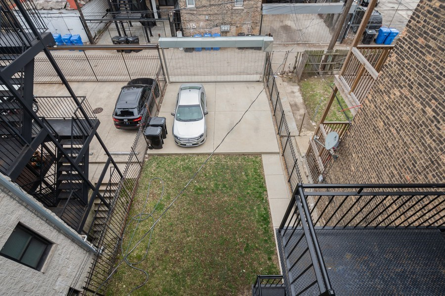 Real Estate Photography - 1312 N. Claremont Avenue, Chicago, IL, 60622 - Back Yard