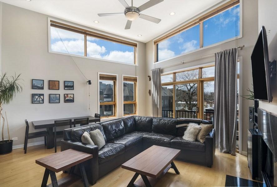 Real Estate Photography - 2125 N. DAMEN Avenue, Unit 4, Chicago, IL, 60647 - Living Room
