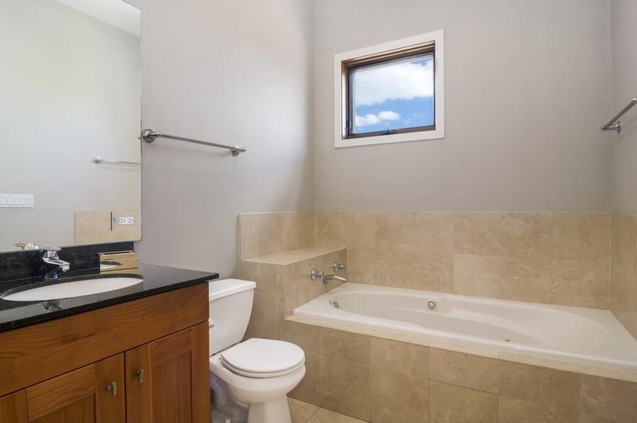 Real Estate Photography - 2125 N. DAMEN Avenue, Unit 4, Chicago, IL, 60647 - Master Bathroom