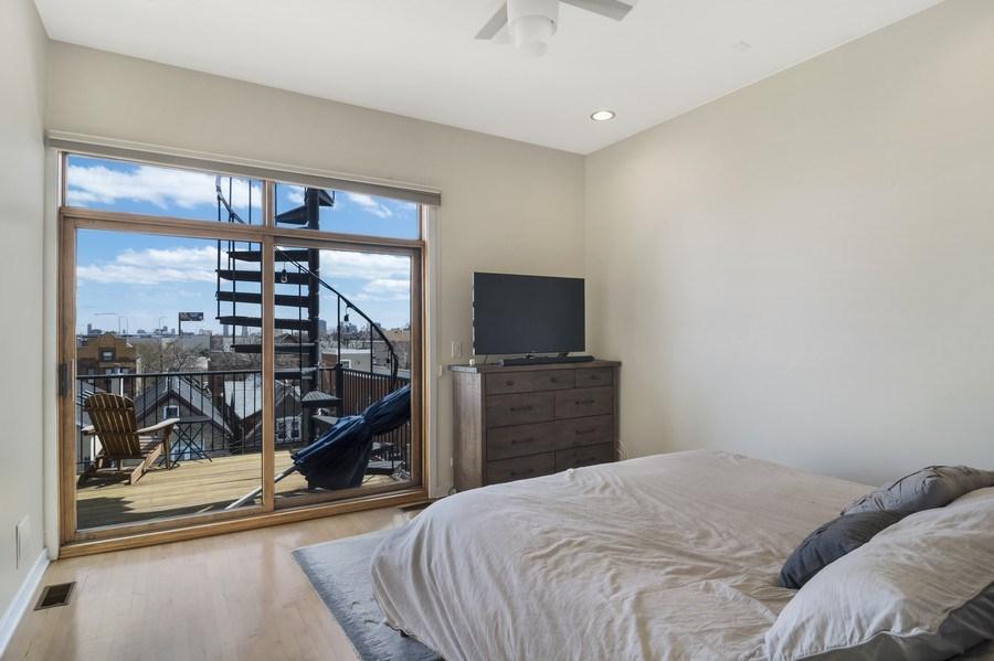Real Estate Photography - 2125 N. DAMEN Avenue, Unit 4, Chicago, IL, 60647 - Master Bedroom