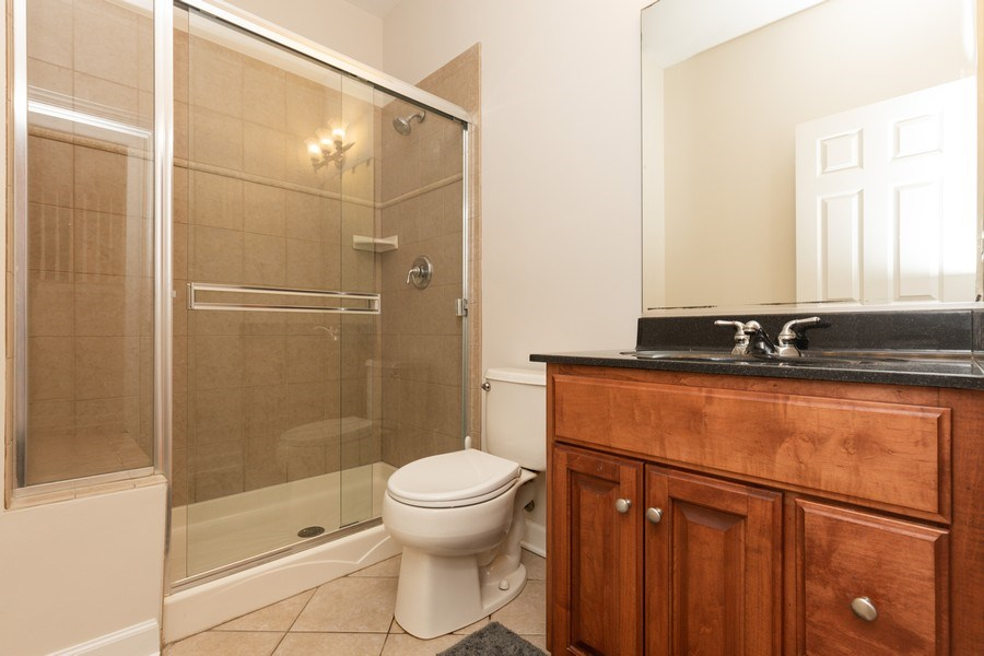 Real Estate Photography - 1711 Stone Ridge Lane, Algonquin, IL, 60102 - Main Floor Full Bath outisde office