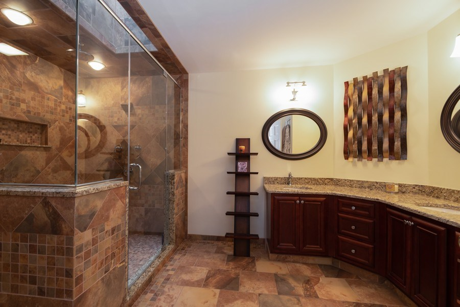 Real Estate Photography - 6022 andres Avenue, Tinley Park, IL, 60477 - Master Bathroom