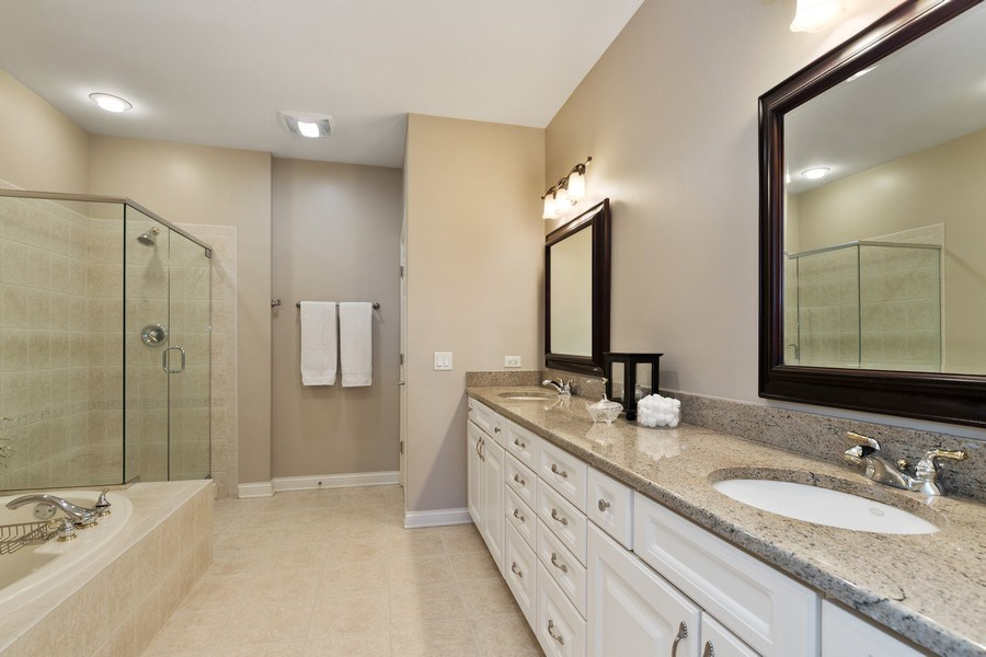 Real Estate Photography - 1770 W. Newport Court, Lake Forest, IL, 60045 - Master Bathroom