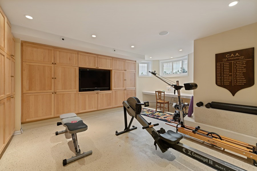 Real Estate Photography - 439 W. Roslyn Place, Chicago, IL, 60614 - Gym / Family Room