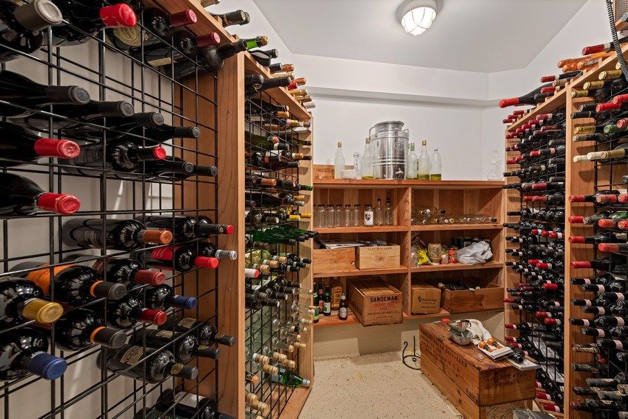 Real Estate Photography - 439 W. Roslyn Place, Chicago, IL, 60614 - Wine Cellar