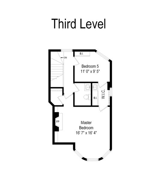 Real Estate Photography - 439 W. Roslyn Place, Chicago, IL, 60614 - Floor Plan