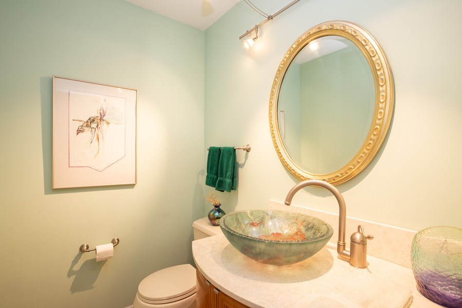 Real Estate Photography - 115 N. HARVARD Avenue, Arlington Heights, IL, 60005 - Powder Room
