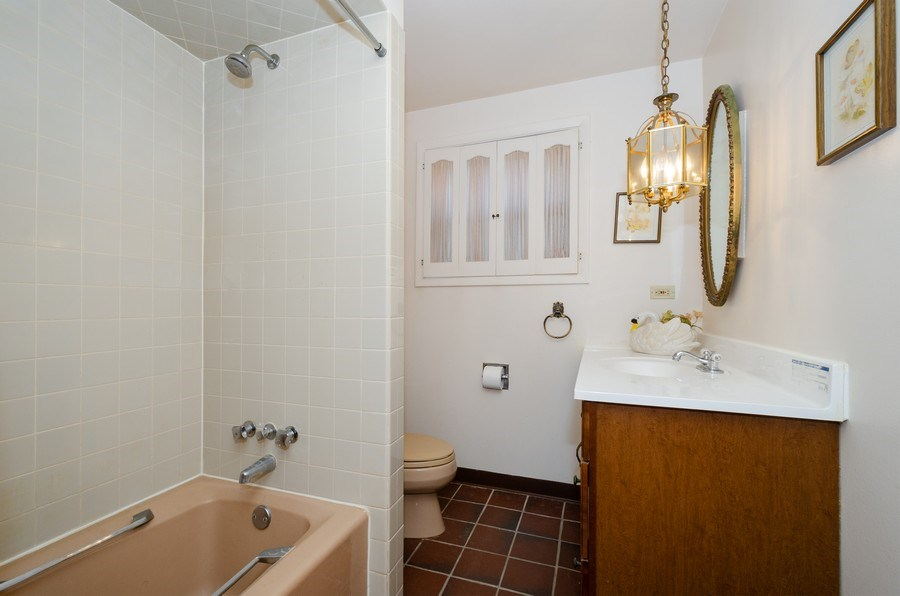 Real Estate Photography - 7632 Maple Street, Morton Grove, IL, 60053 - 3rd Bathroom
