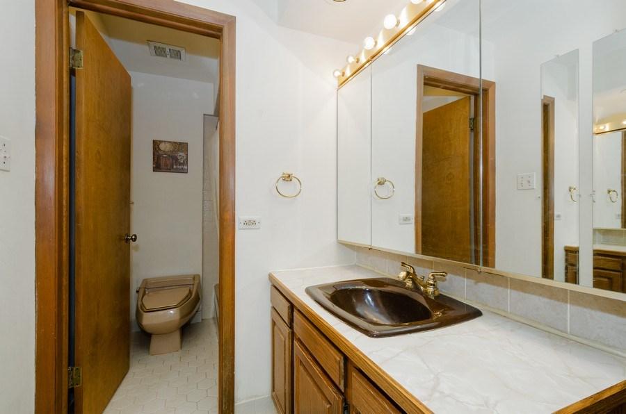 Real Estate Photography - 7632 Maple Street, Morton Grove, IL, 60053 - Master Bathroom