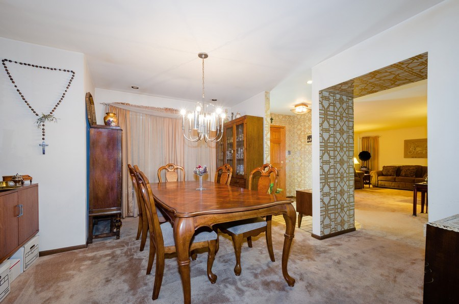 Real Estate Photography - 7632 Maple Street, Morton Grove, IL, 60053 - Dining Room