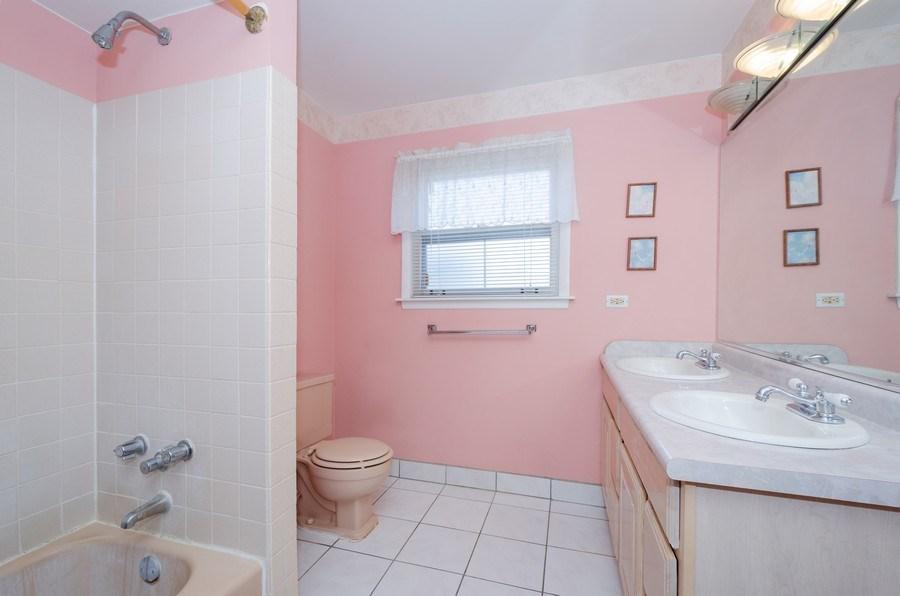 Real Estate Photography - 7632 Maple Street, Morton Grove, IL, 60053 - 2nd Bathroom