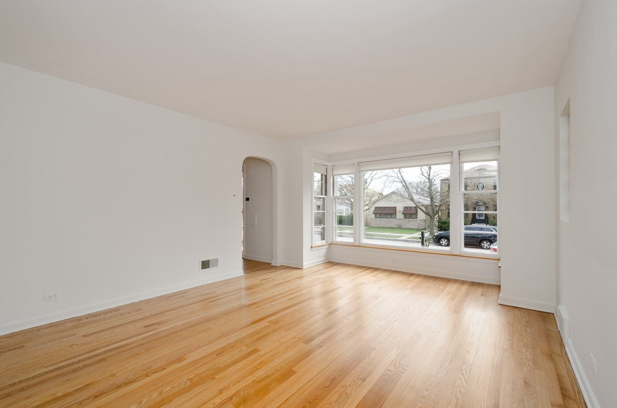 Real Estate Photography - 6132 N. Karlov Avenue, Chicago, IL, 60646 - Living Room