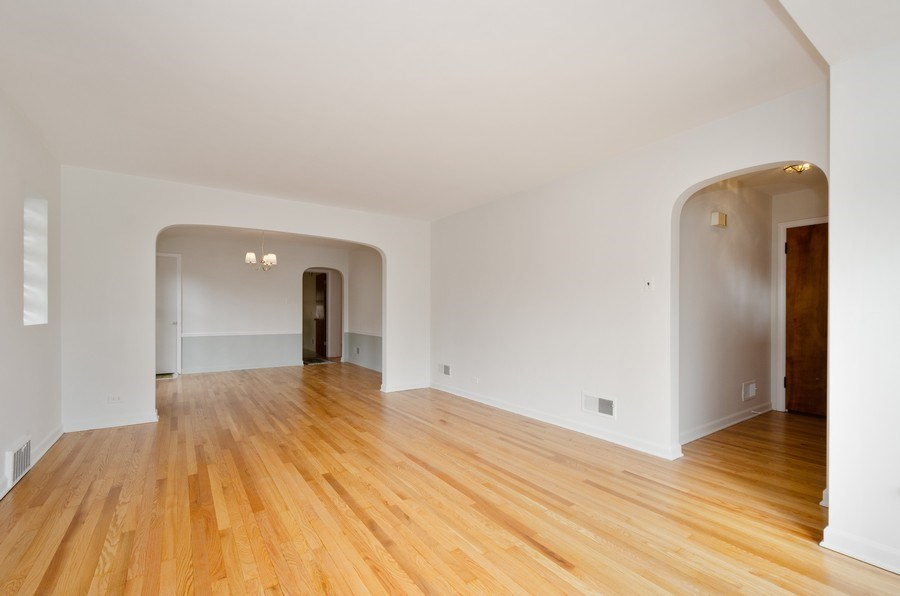 Real Estate Photography - 6132 N. Karlov Avenue, Chicago, IL, 60646 - Living Room / Dining Room