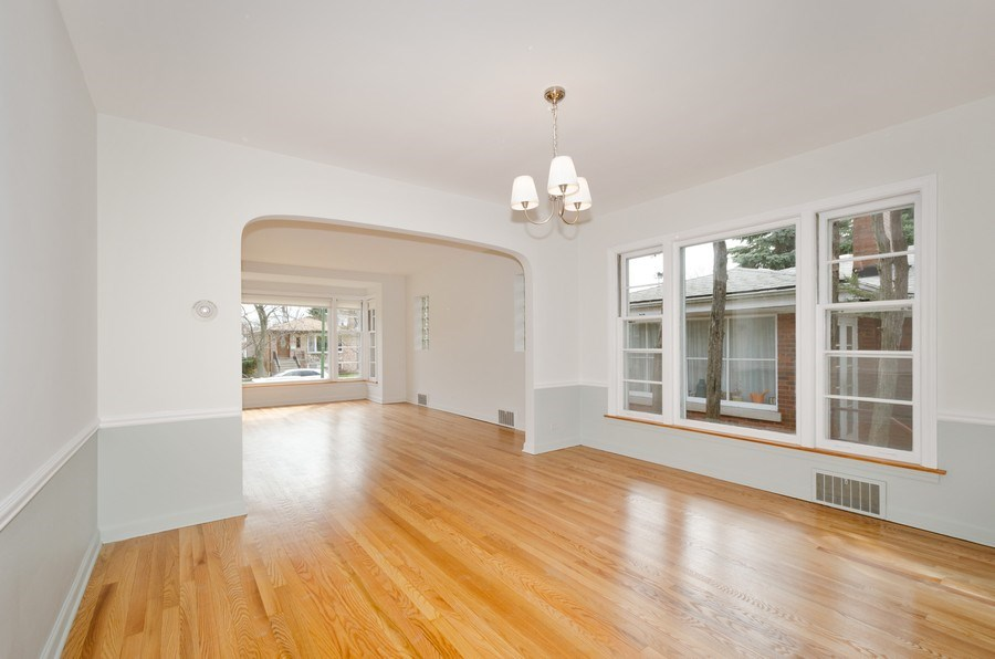Real Estate Photography - 6132 N. Karlov Avenue, Chicago, IL, 60646 - Living Room/Dining Room
