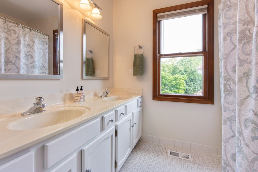 Real Estate Photography - 4017 Mitchell Drive, Arlington Heights, IL, 60004 - 2nd Bathroom