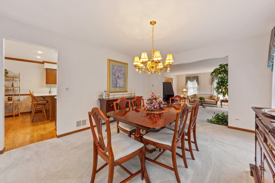Real Estate Photography - 4017 Mitchell Drive, Arlington Heights, IL, 60004 - Living Room / Dining Room