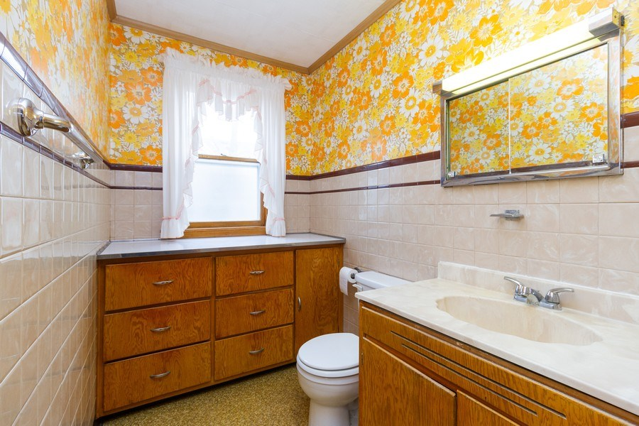 Real Estate Photography - 117 N. White Street, Frankfort, IL, 60423 - Bathroom