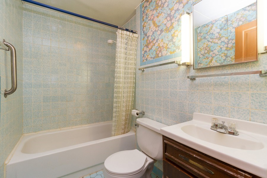 Real Estate Photography - 117 N. White Street, Frankfort, IL, 60423 - 2nd Bathroom