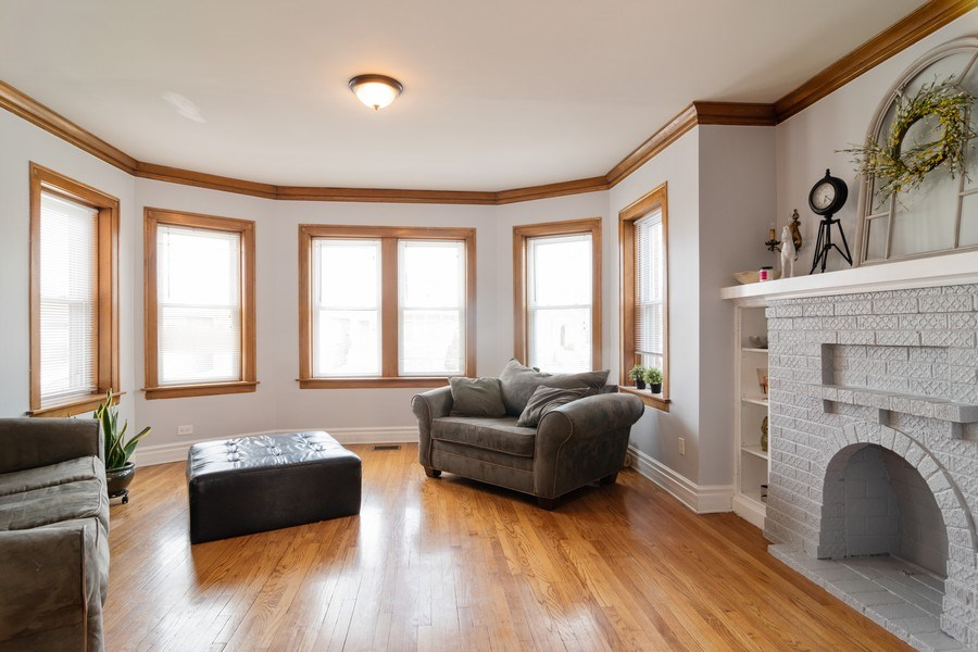 Real Estate Photography - 2902 N. Newcastle Avenue, Chicago, IL, 60634 - Living Room