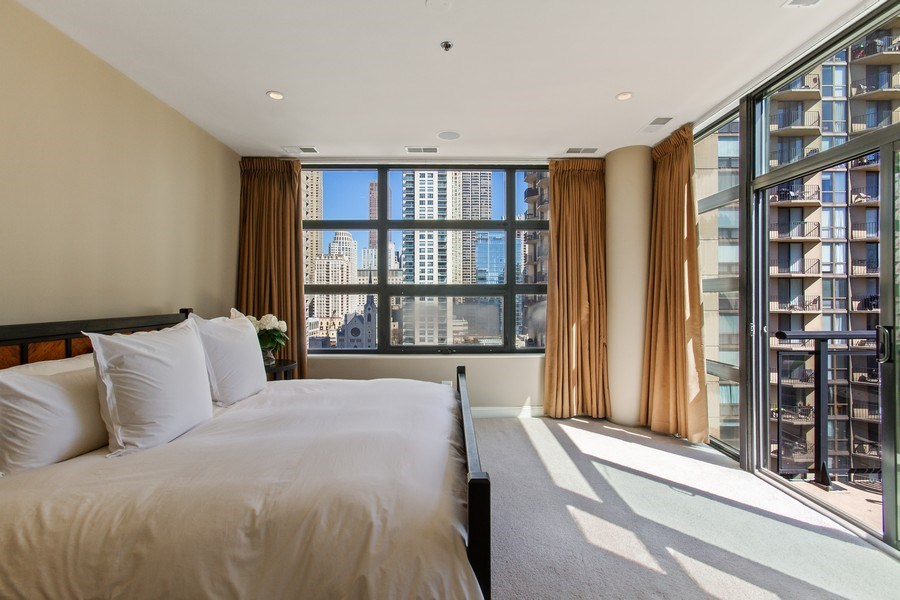 Real Estate Photography - 101 W. Superior Street, Unit 1204, Chicago, IL, 60611 - Master Bedroom