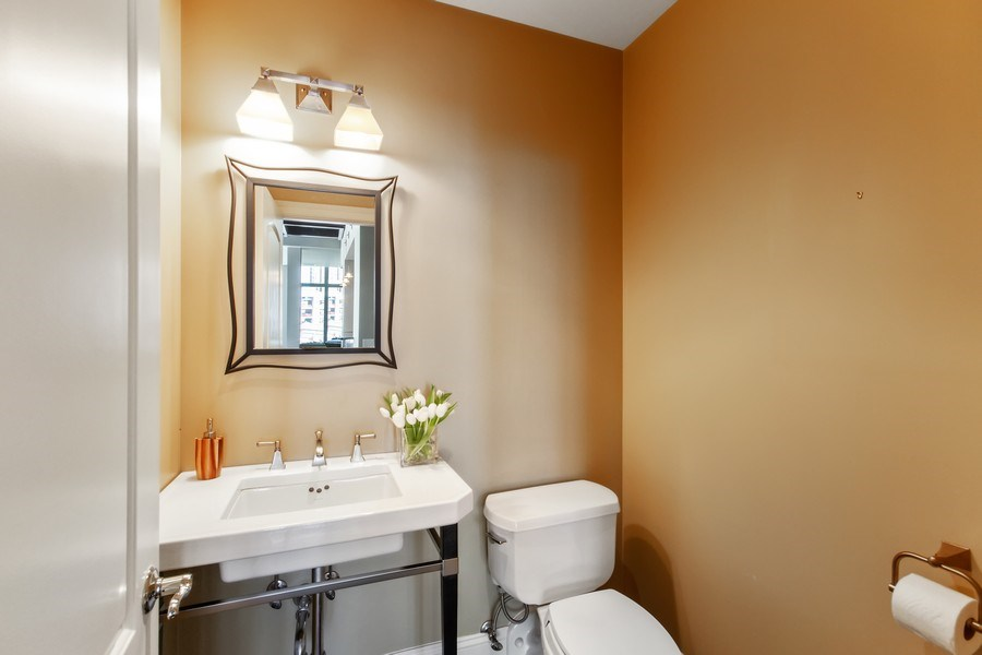 Real Estate Photography - 101 W. Superior Street, Unit 1204, Chicago, IL, 60611 - First Floor Powder Room