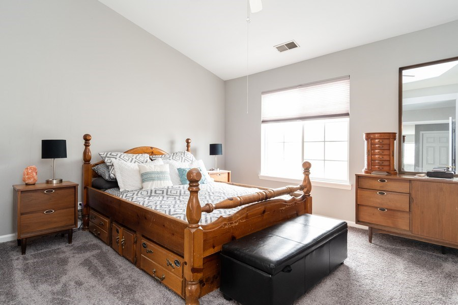 Real Estate Photography - 2214 Daybreak Drive, Aurora, IL, 60503 - Master Bedroom