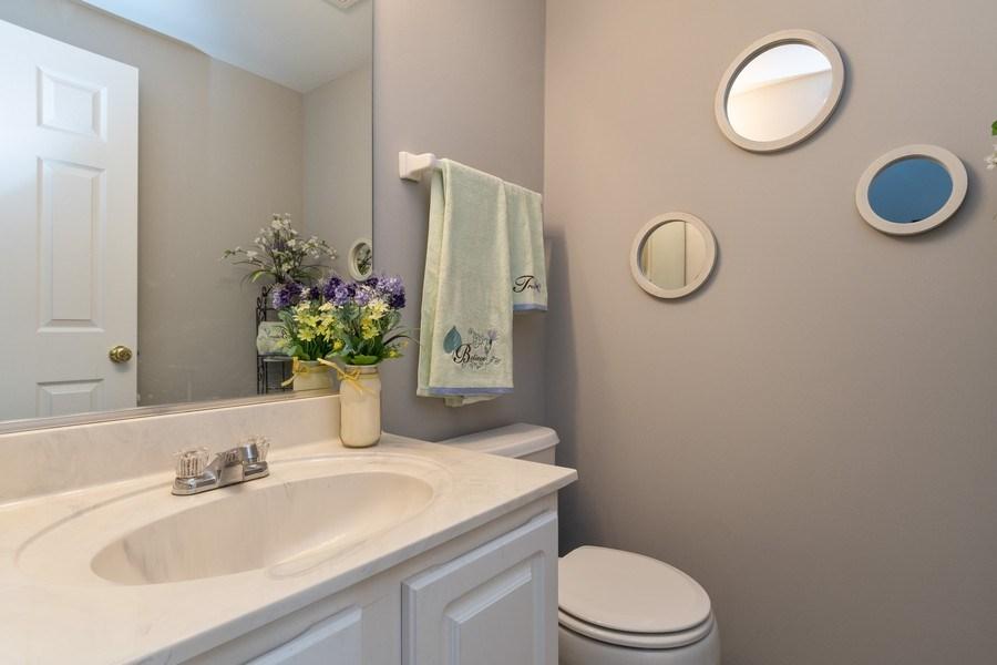 Real Estate Photography - 2214 Daybreak Drive, Aurora, IL, 60503 - Half Bath