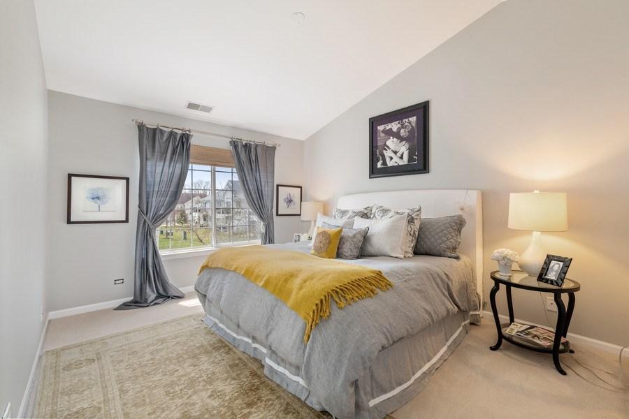 Real Estate Photography - 2477 Wilton Lane, Unit 2477, Aurora, IL, 60502 - Master Bedroom